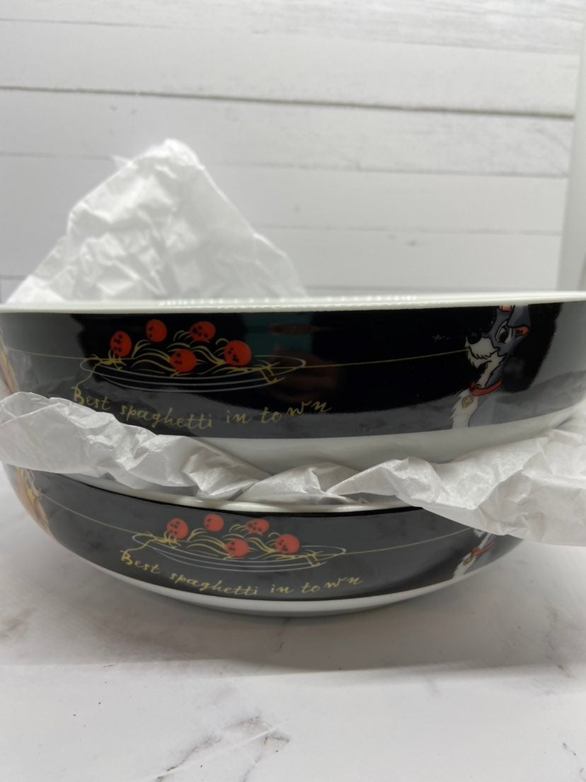 Two Lady & The Tramp Spaghetti Bowls