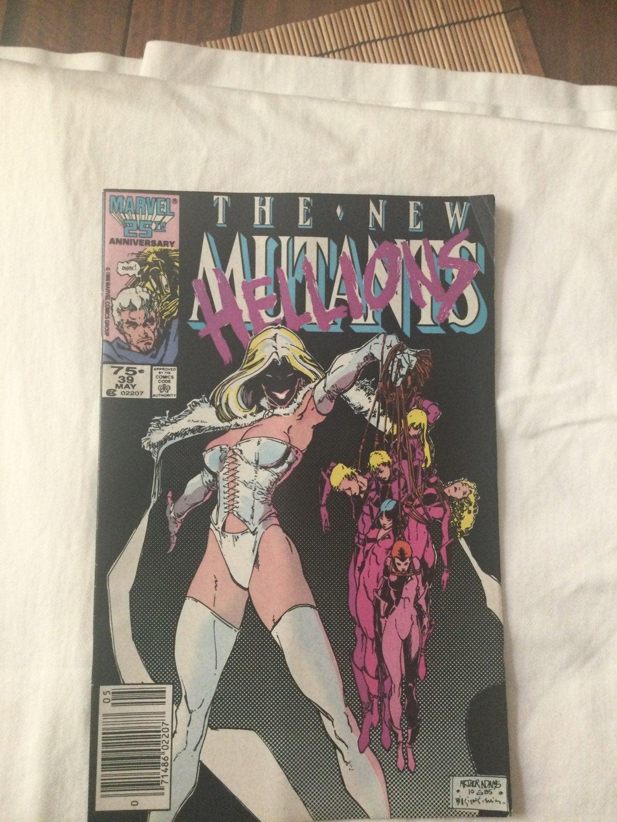 1985 marvel comics The New Mutants (Apri