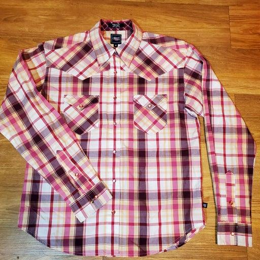 Cruel Girl Pearl Snap Western Shirt M