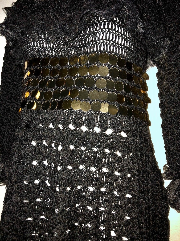 Handmade one of a kind crocheted dress