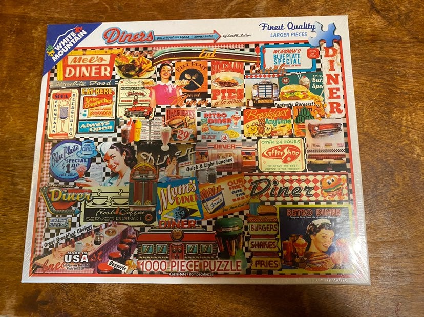 White Mountain Diners 1000 Piece Puzzle