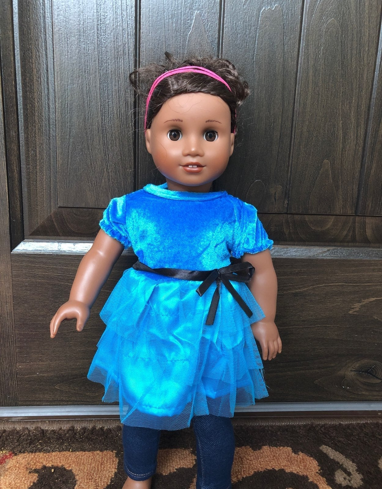 18 Inch Doll Clothes Blue Dress