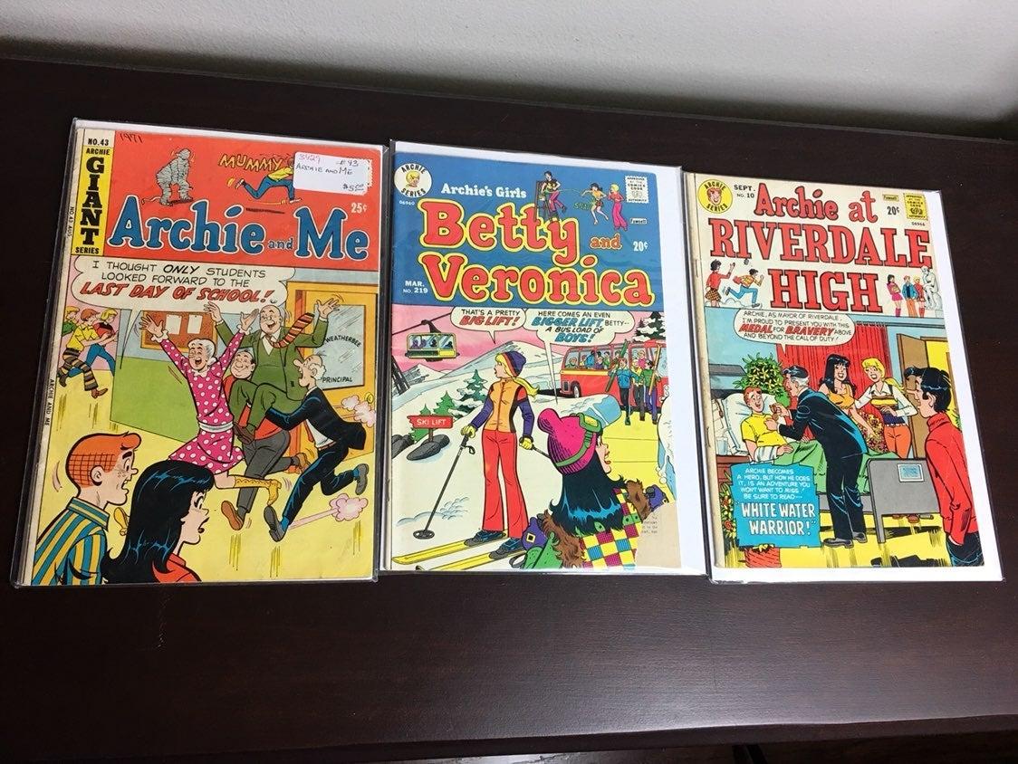 Lot of 3 Vintage Archie comics