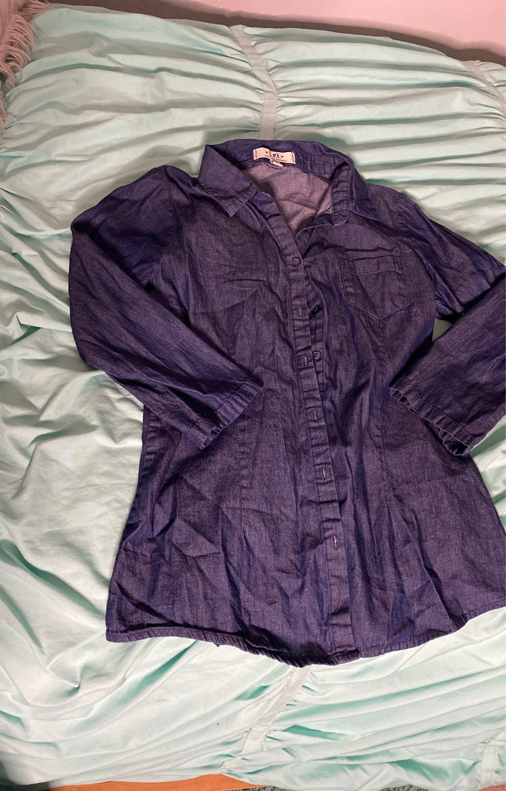 Blue Jean Button Down Shirt