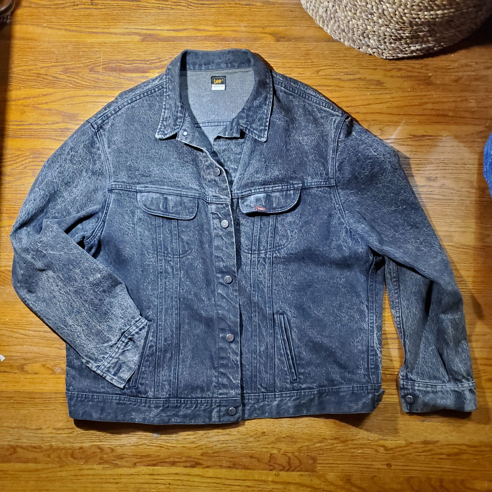 Big & Tall LEE Black Denim Jacket 3XLT