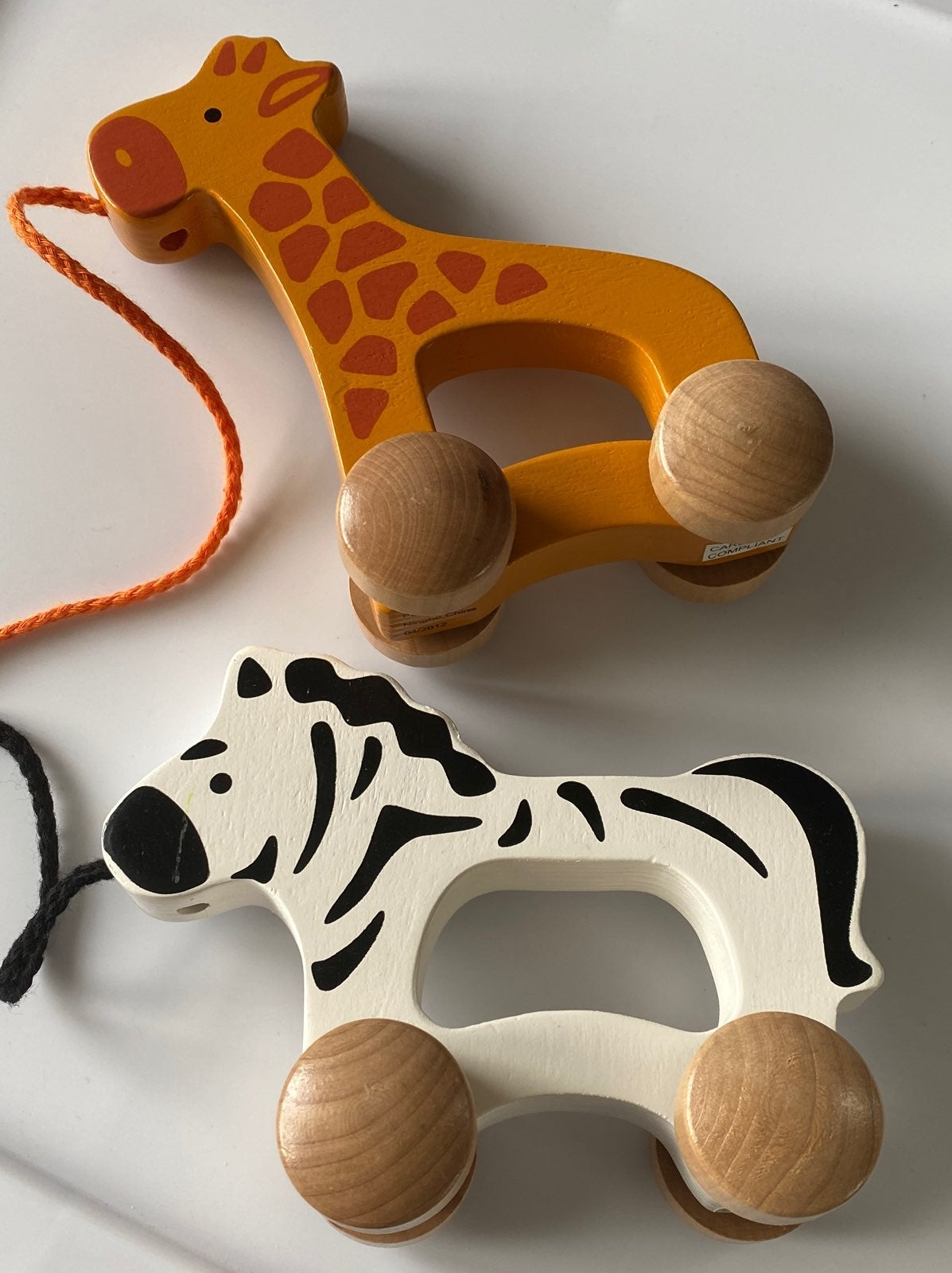 Pottery Barn Kids wooden pull toys