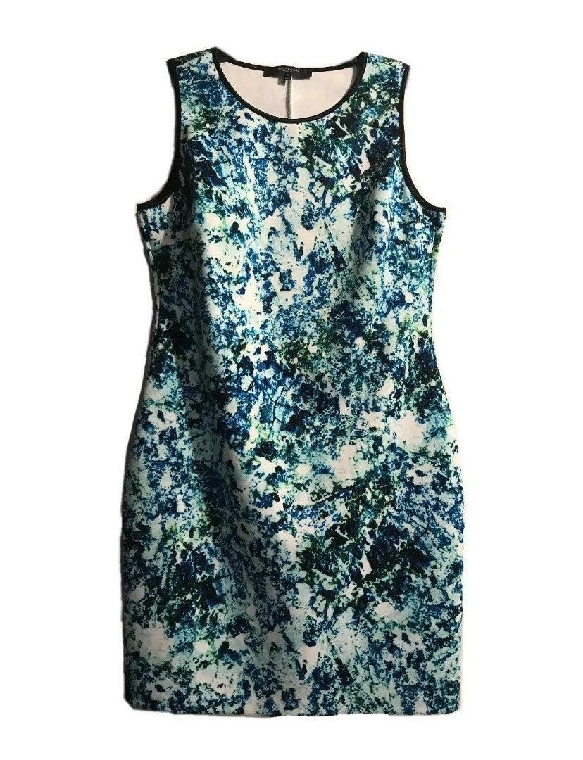 Mark new york dress print blue sleeveles