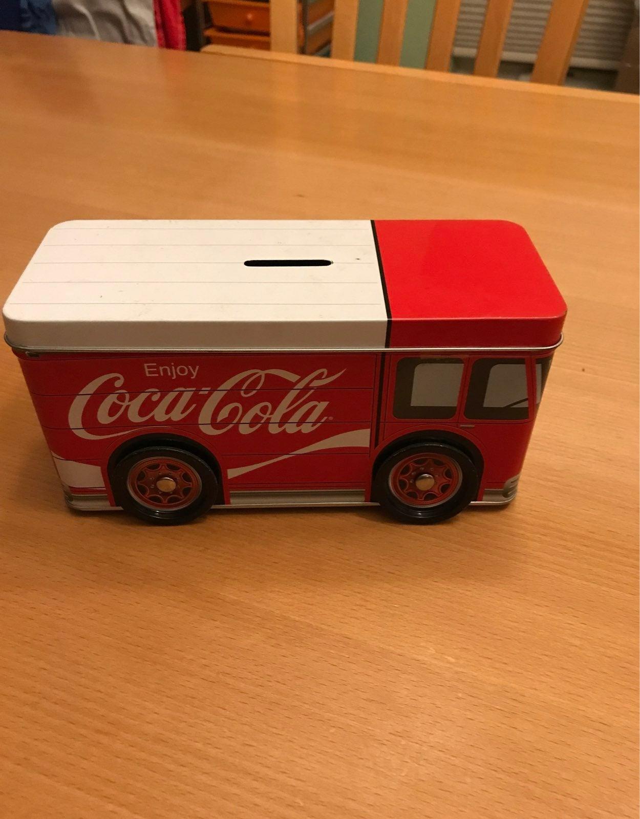 Coco cola truck bank