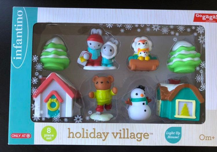 Infantino Holiday Village 8 toy set NIB