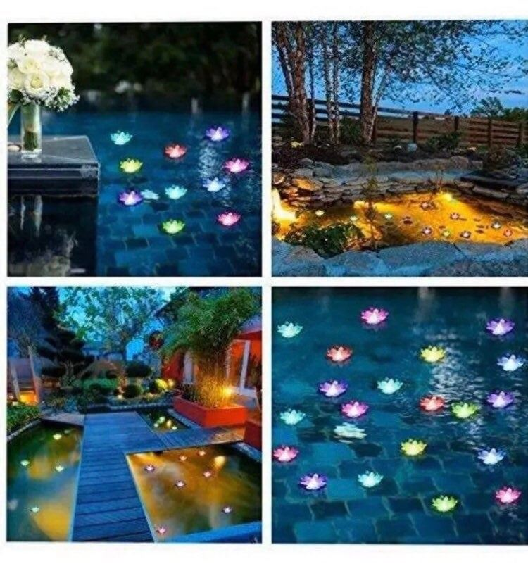 New Floating Lotus Lights Water Lily