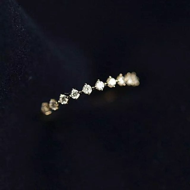 Yellow gold dainty stackable ring