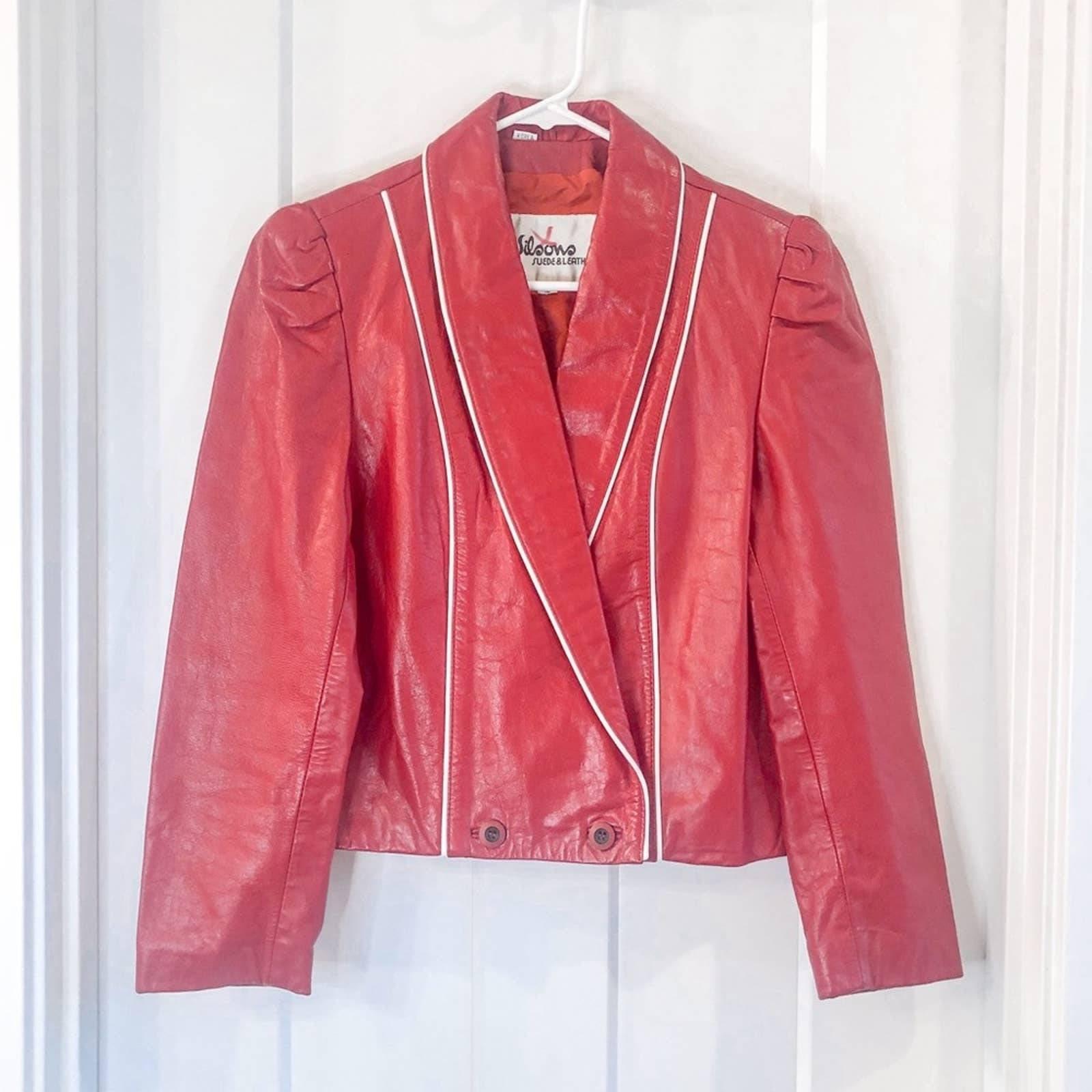 Wilsons Leather Vintage Red Jacket 12