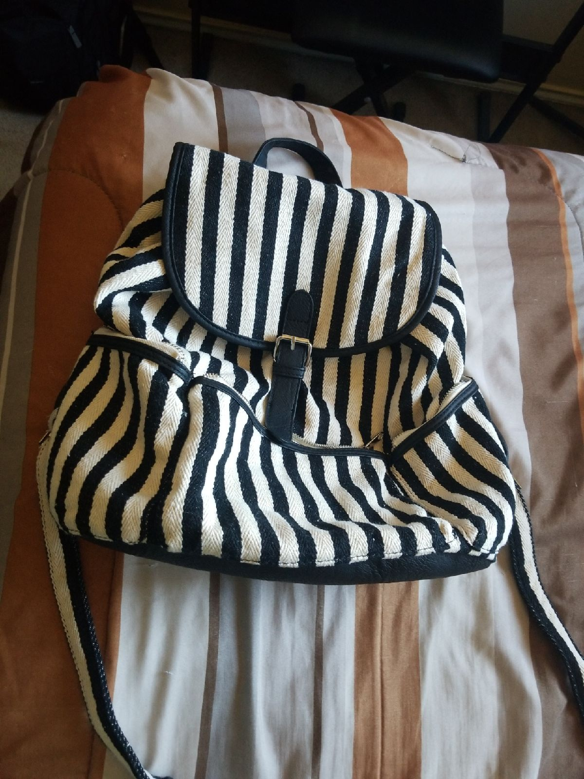 Candie's Stripped Backpack for women