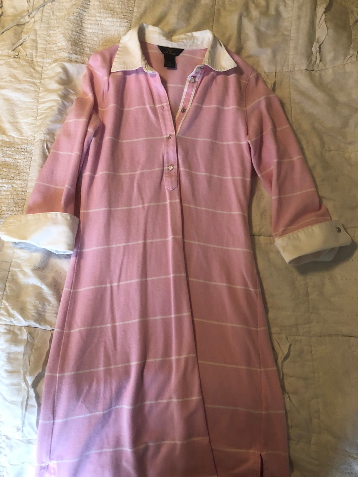 Brooks Brothers Pink and White Striped D