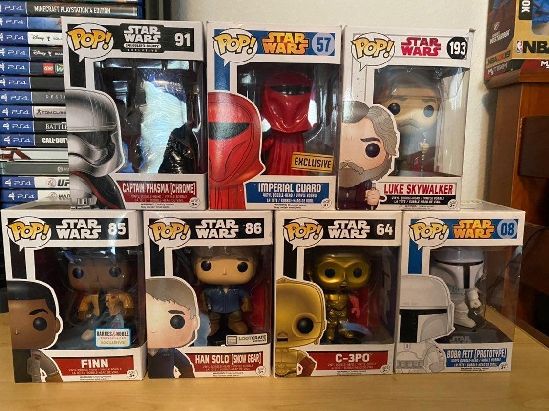 Star Wars Funko Pop Lot