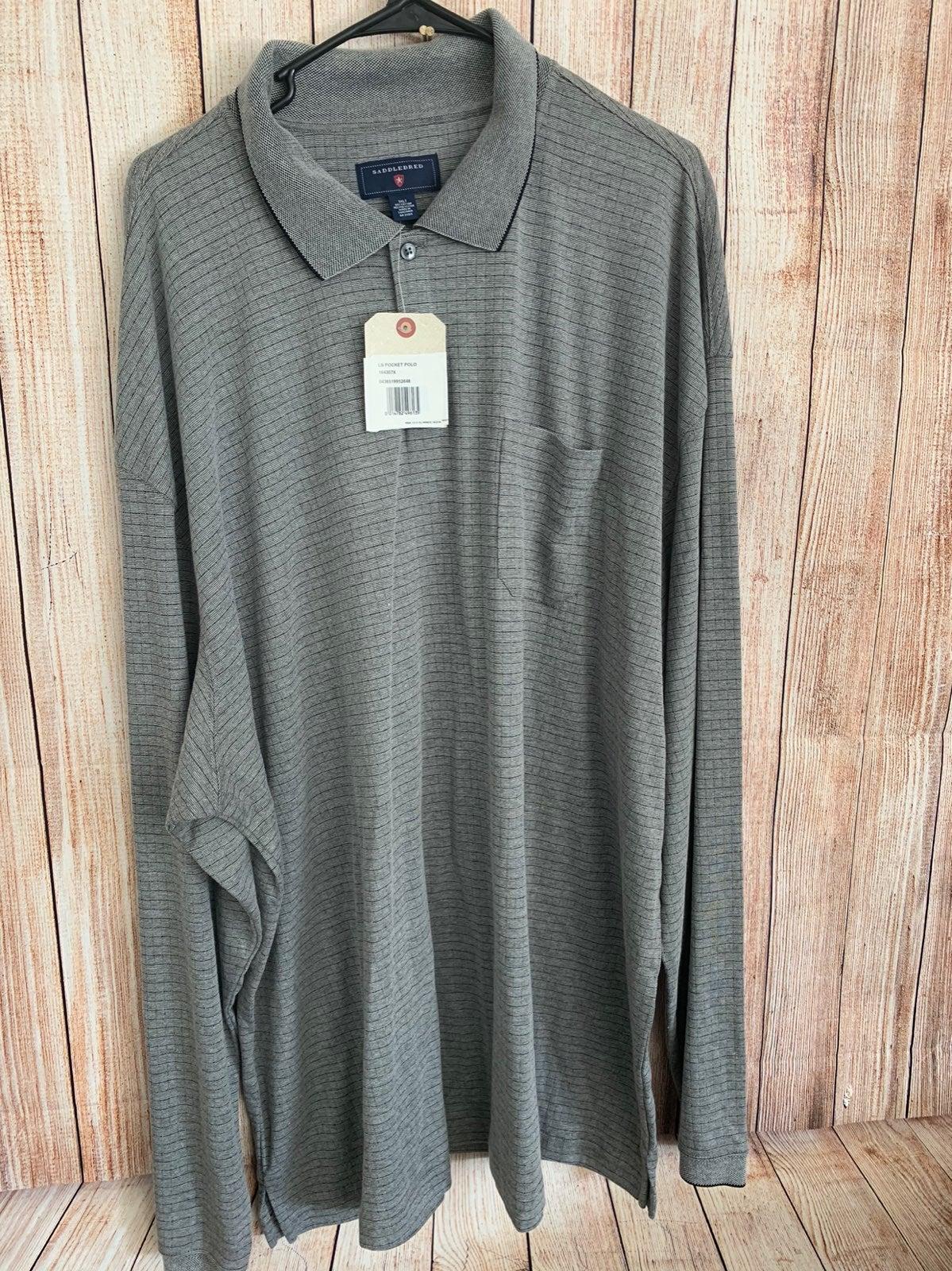 Big and Tall Saddlebred polo shirt