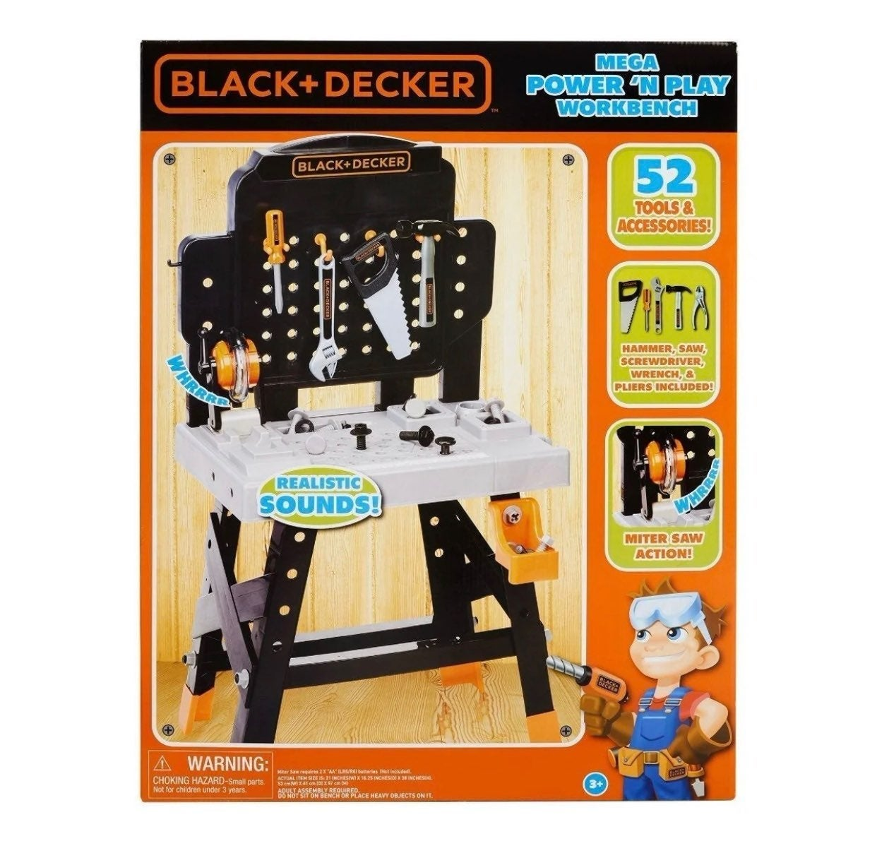 Kids Pretend Power N' Play Workbench