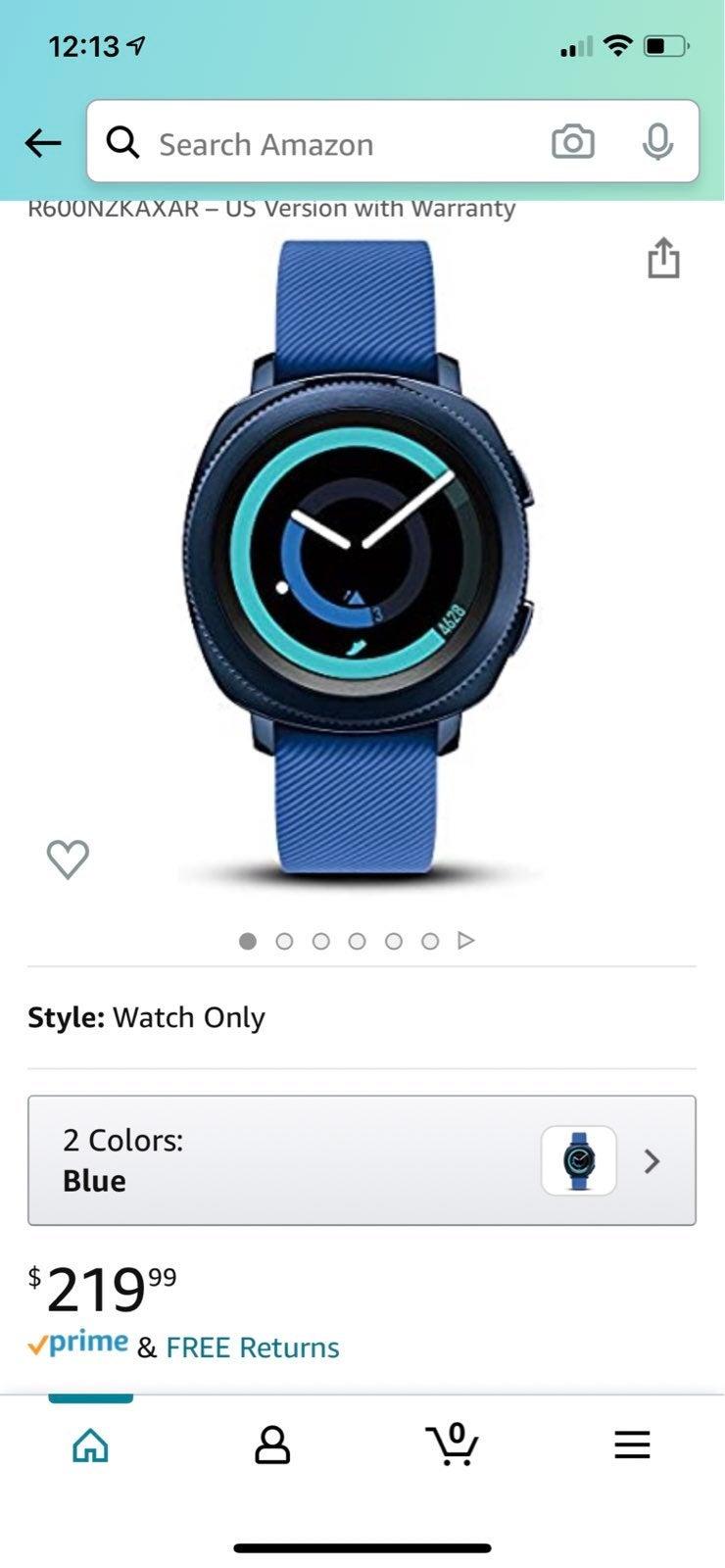 Samsung Gear Sport Smartwatch in Blue