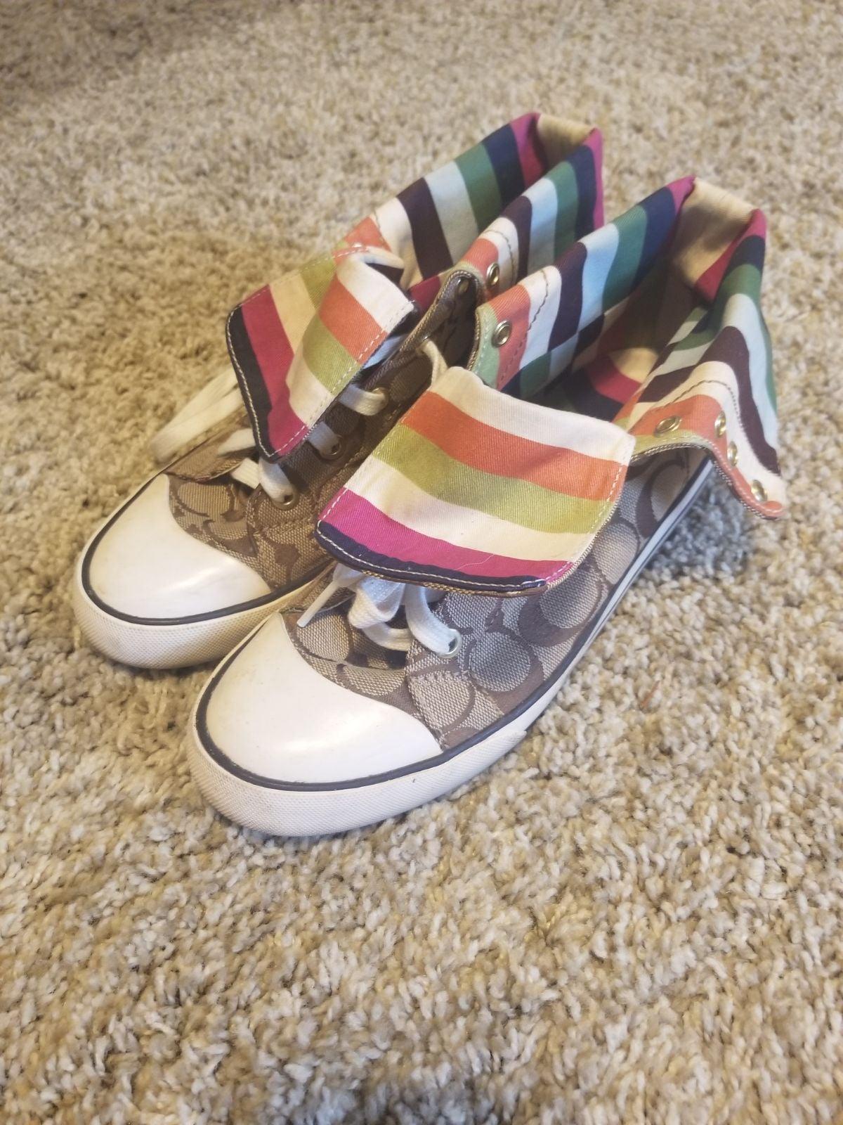 Coach signature bonney hightop sneakers