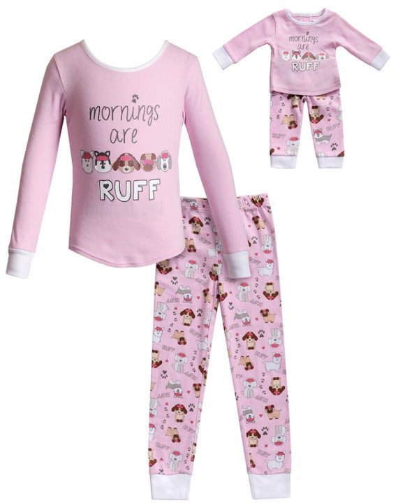 Nwt dollie & me 5 dog matching pajamas