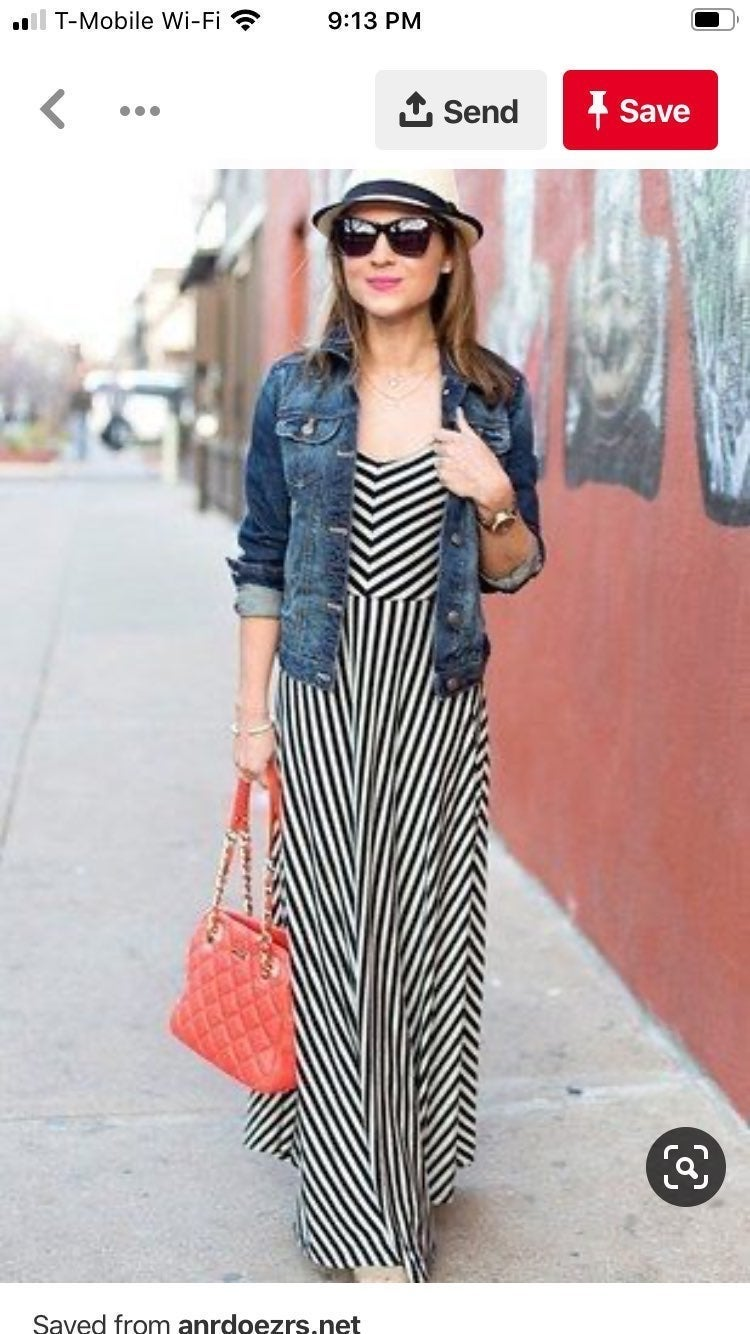 Loft stripe maxi dress