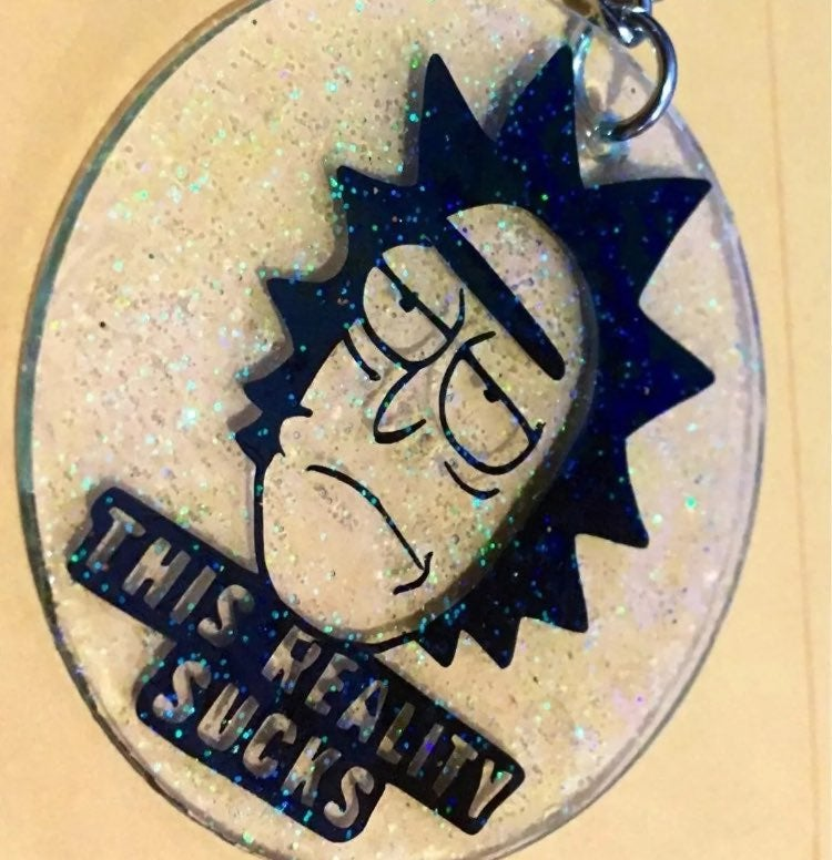 Rick & Morty this reality sucks keychain