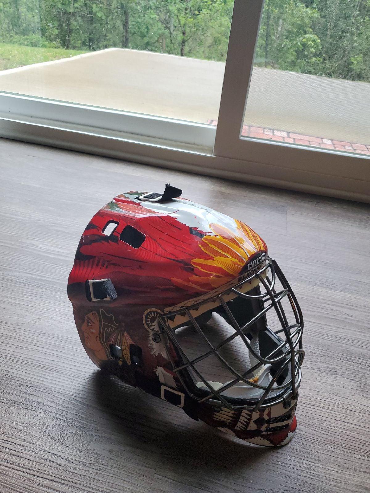 Chicago Blackhawks Street Hockey Mask
