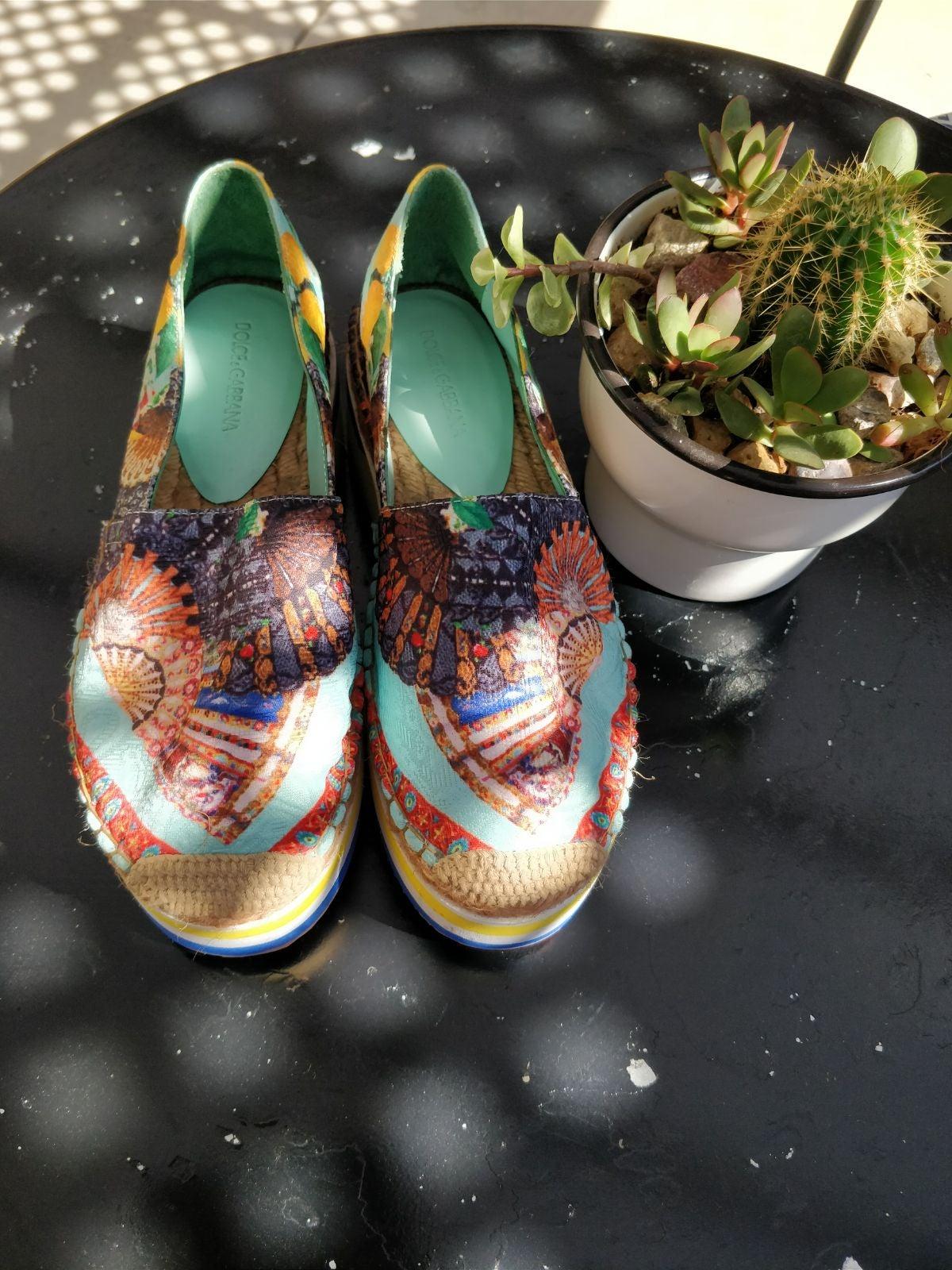 Dolce and Gabbana platform shoes