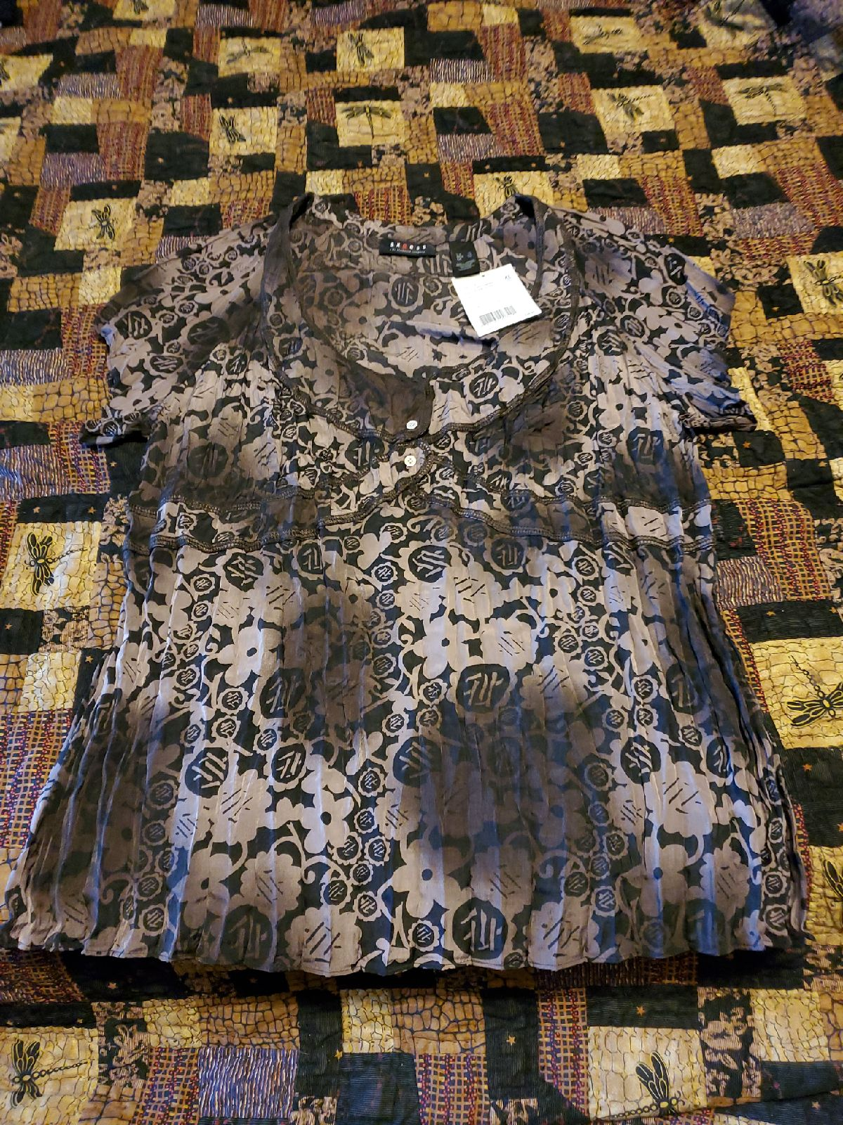 Axcess coffee blouse new xl