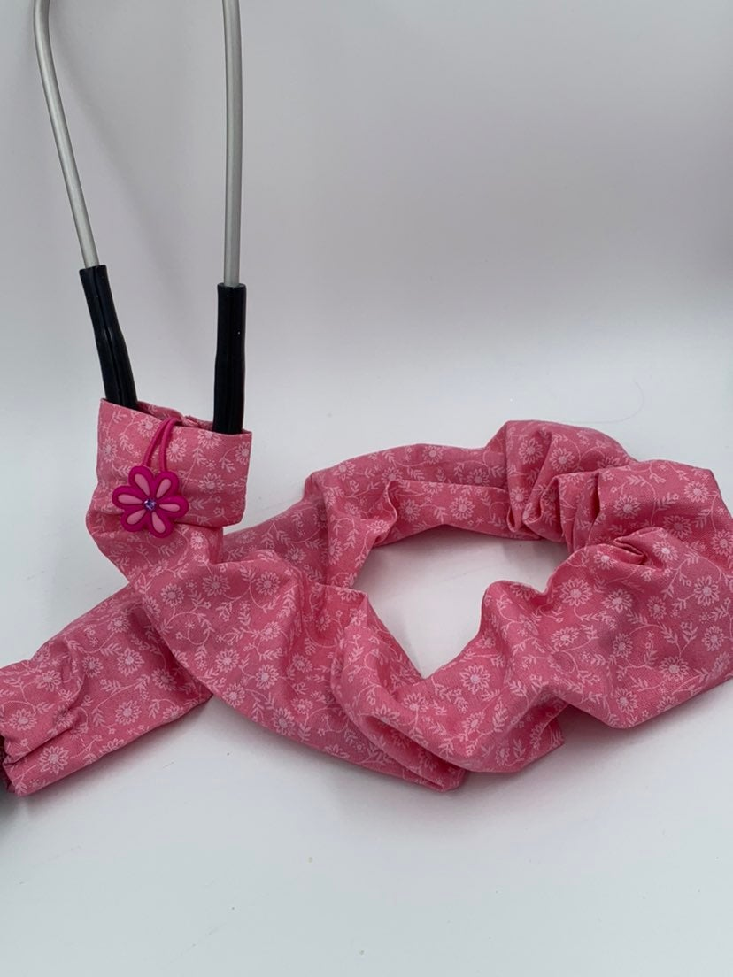 Pink Floral Stethoscope Cover