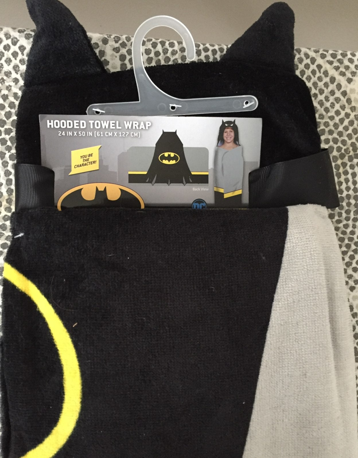 Batman hooded Towel Wrap NWT