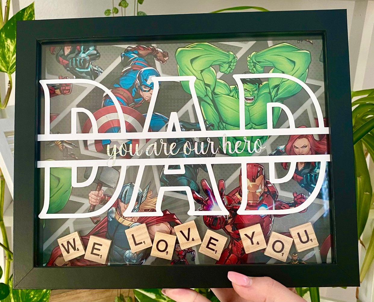 Personalized fathers day gift frame