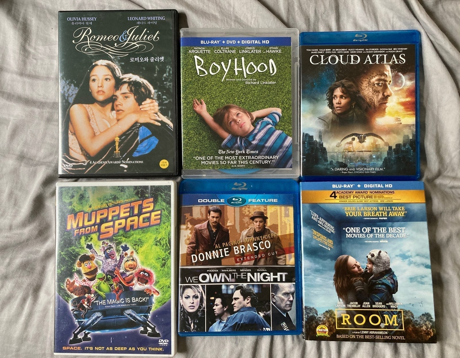 6 Blu Ray/DVD Lot