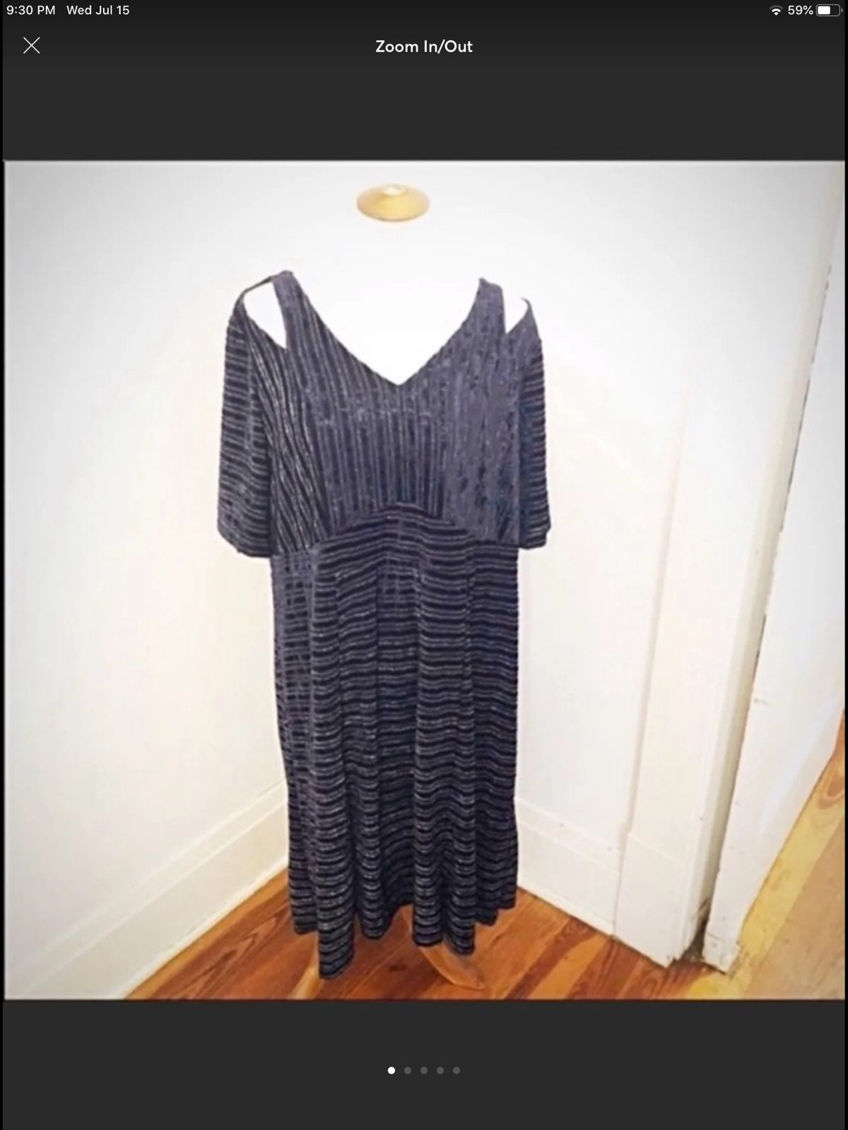 Catherines navy cold shoulder Dress 1x