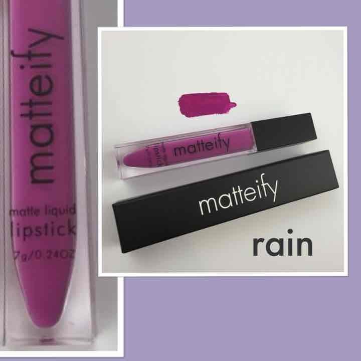 Summer purple matte liquid lipstick