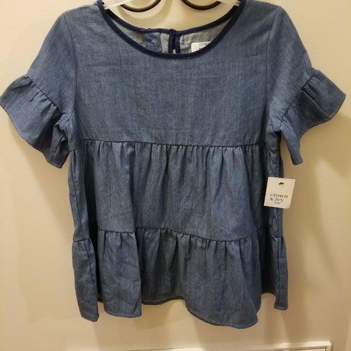 Blue denim Girls Croft & Barrow shirt