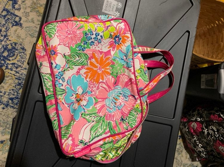 Lilly Pulitzer travel makeup bag