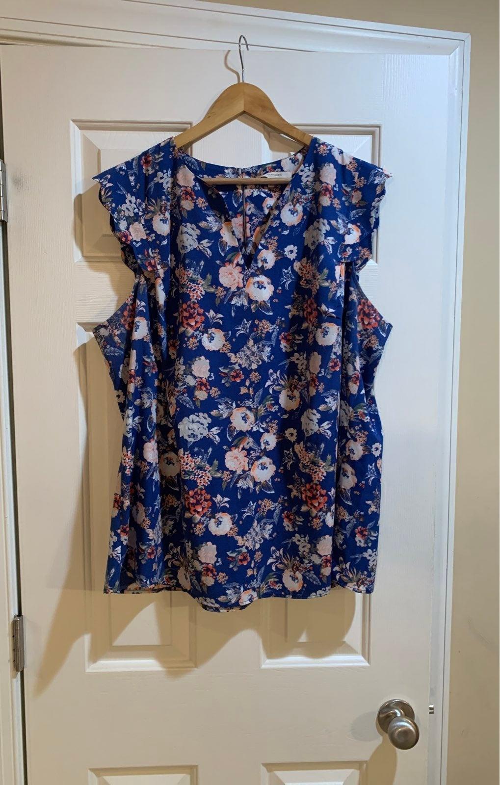 41 Hawthorn floral sleeveless top