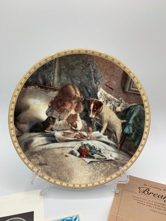 1991 Breakfast in Bed Collectors Plate