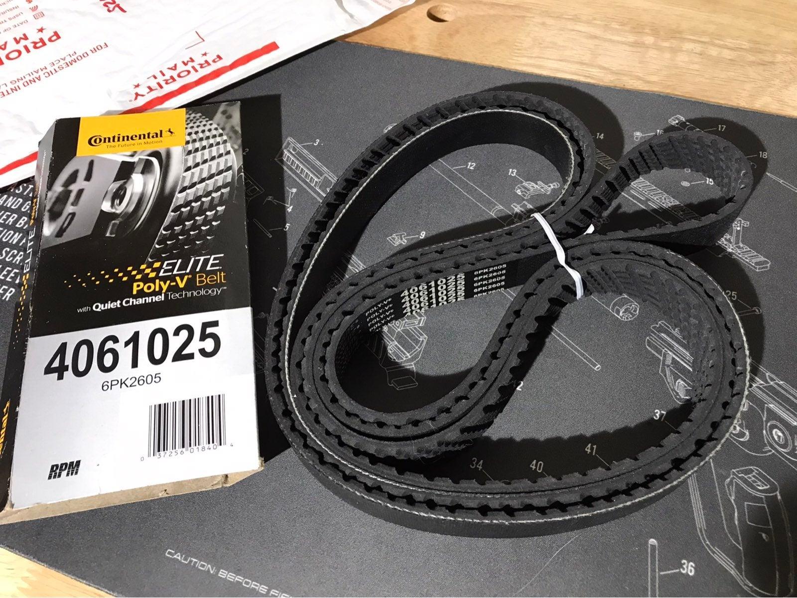 Continental Elite Poly V Belt 4061025