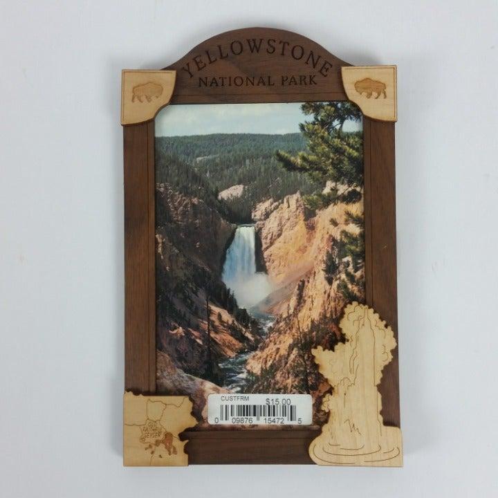 Yellowstone Park Wood Frame 7 x 4