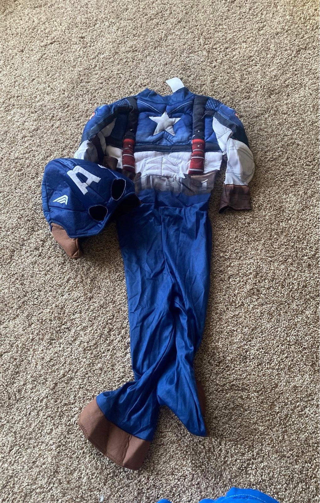 Captain Ameroca Costume boys 6
