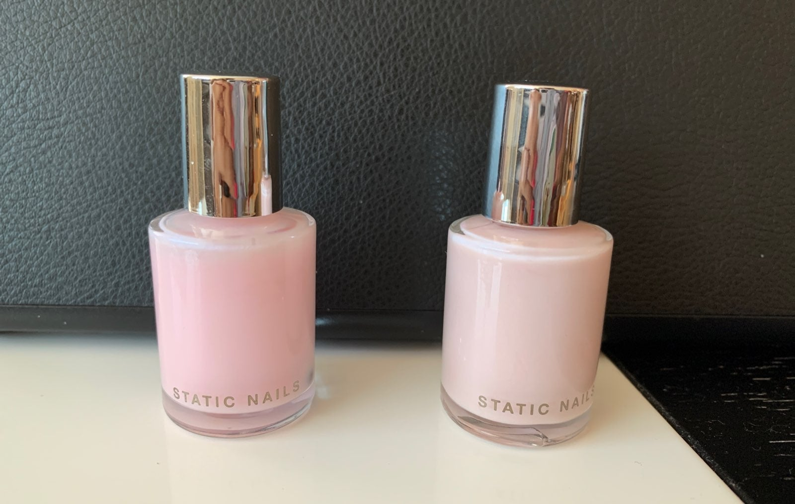 STATIC NAILS ballerina and milky pink