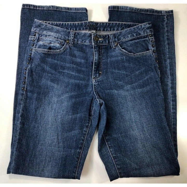 Cache Womens Boot Cut Jeans Blue size 6