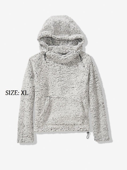 VS PINK SHERPA FUNNEL NECK PULLOVER XL