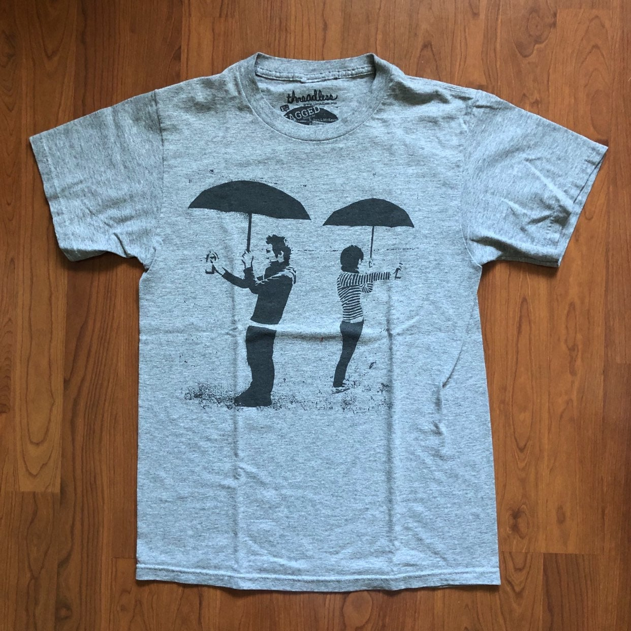 Threadless Gray T Shirt Robyn McKeown S