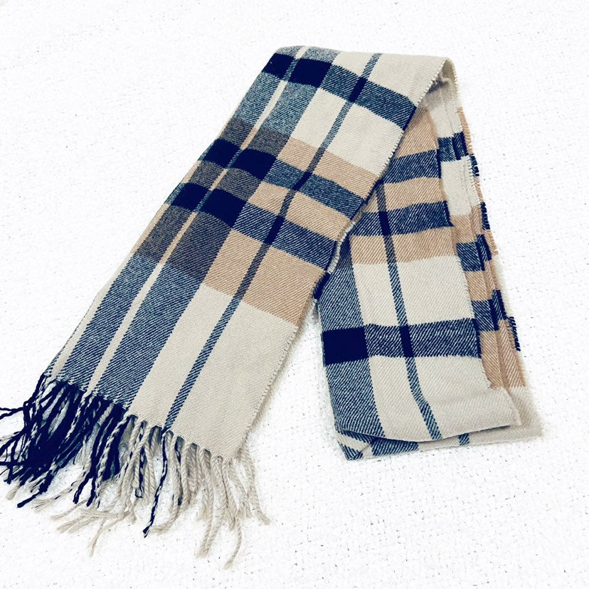 Made in scotland cashmere plaid scarf
