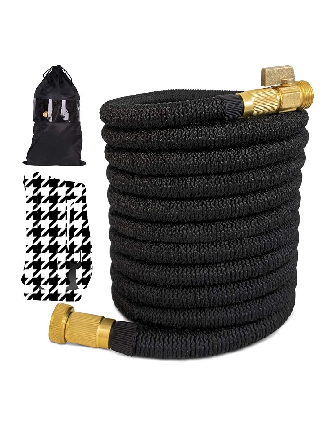 Expandable garden hose 100ft with solid