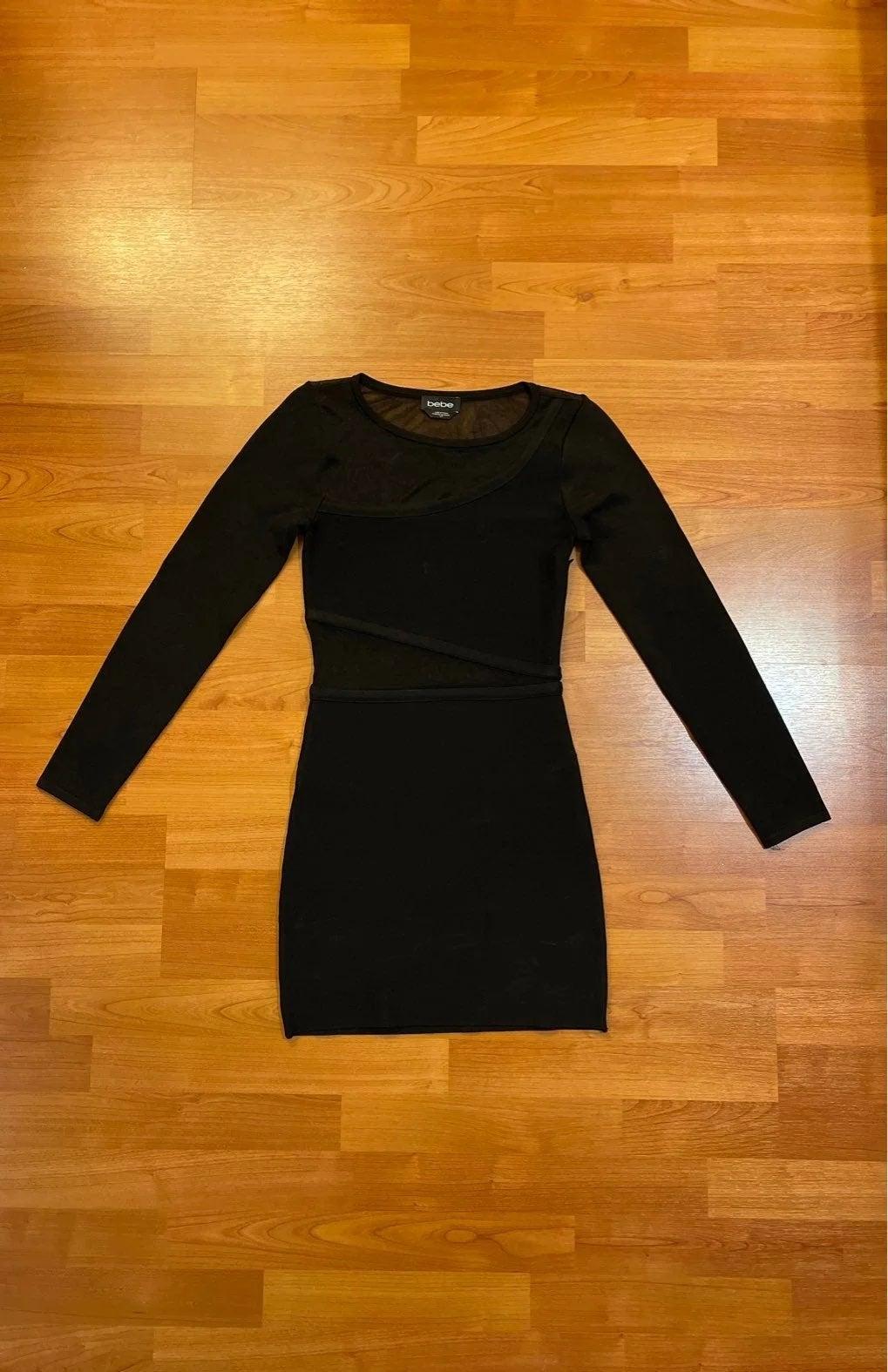 Bebe black bodycon dress