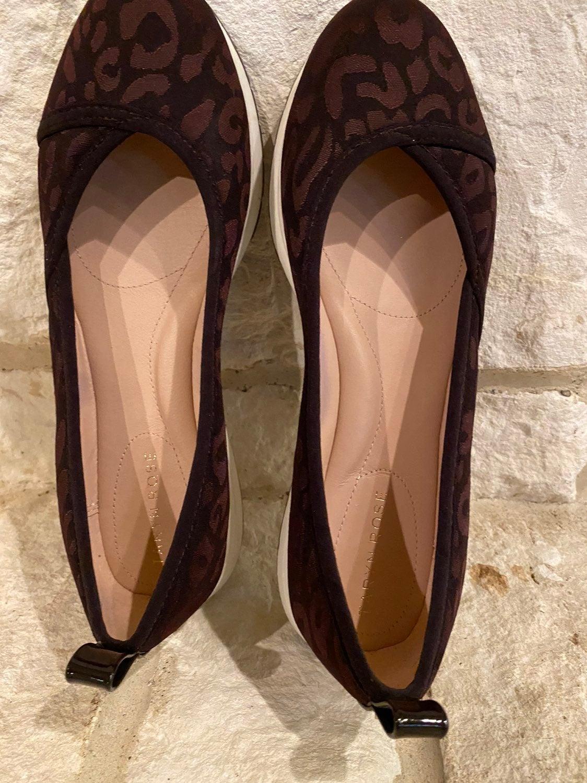 Taryn Rose Mahogany Bobbie Flats
